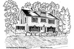 Sketch of House: 316 Hart Avenue, Burlington.