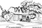 Architectural Sketch: 582 Laural Drive, BURLINGTON