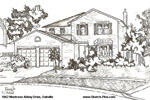 Architectural Sketch: 1062 Montrose Abbey Drive, Oakville